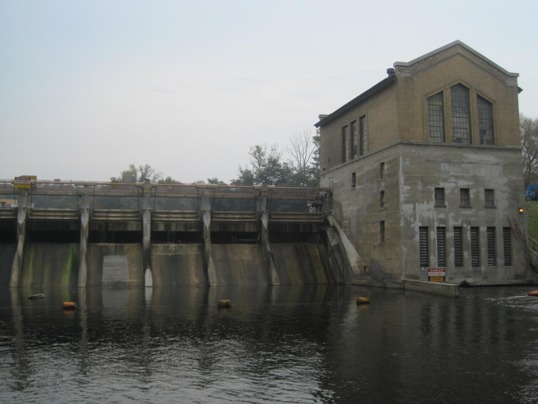 Barton Dam on the Huron River in Ann Arbor, MI