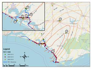 Hurricane Michael peak wind map