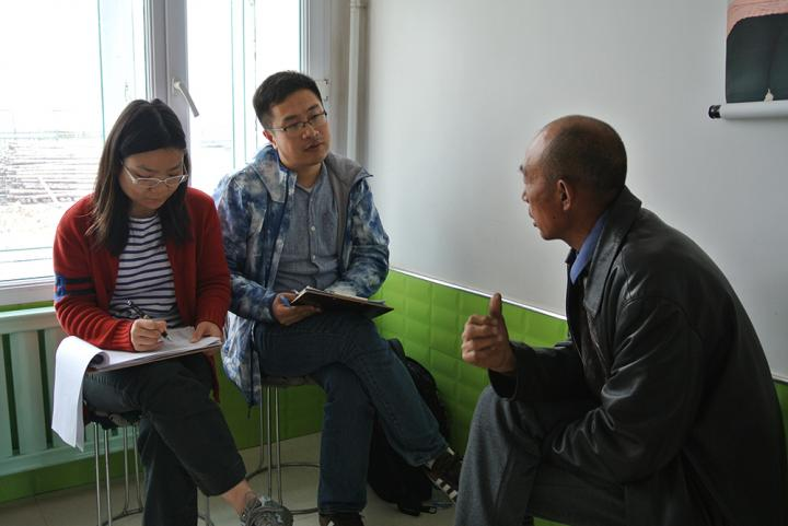 Interviewing Farmers in China
