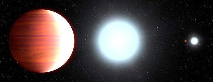 Artist's View of Kepler-13Ab Orbiting its Host Star