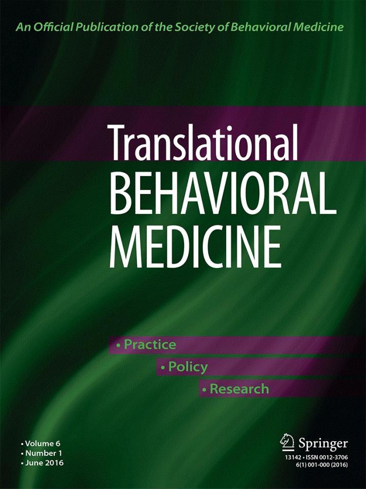 <em>Translational Behavioral Medicine</em>