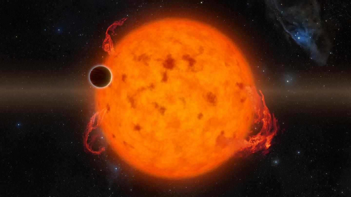 Exoplanet Orbits Youthful Star (Artist Concept)