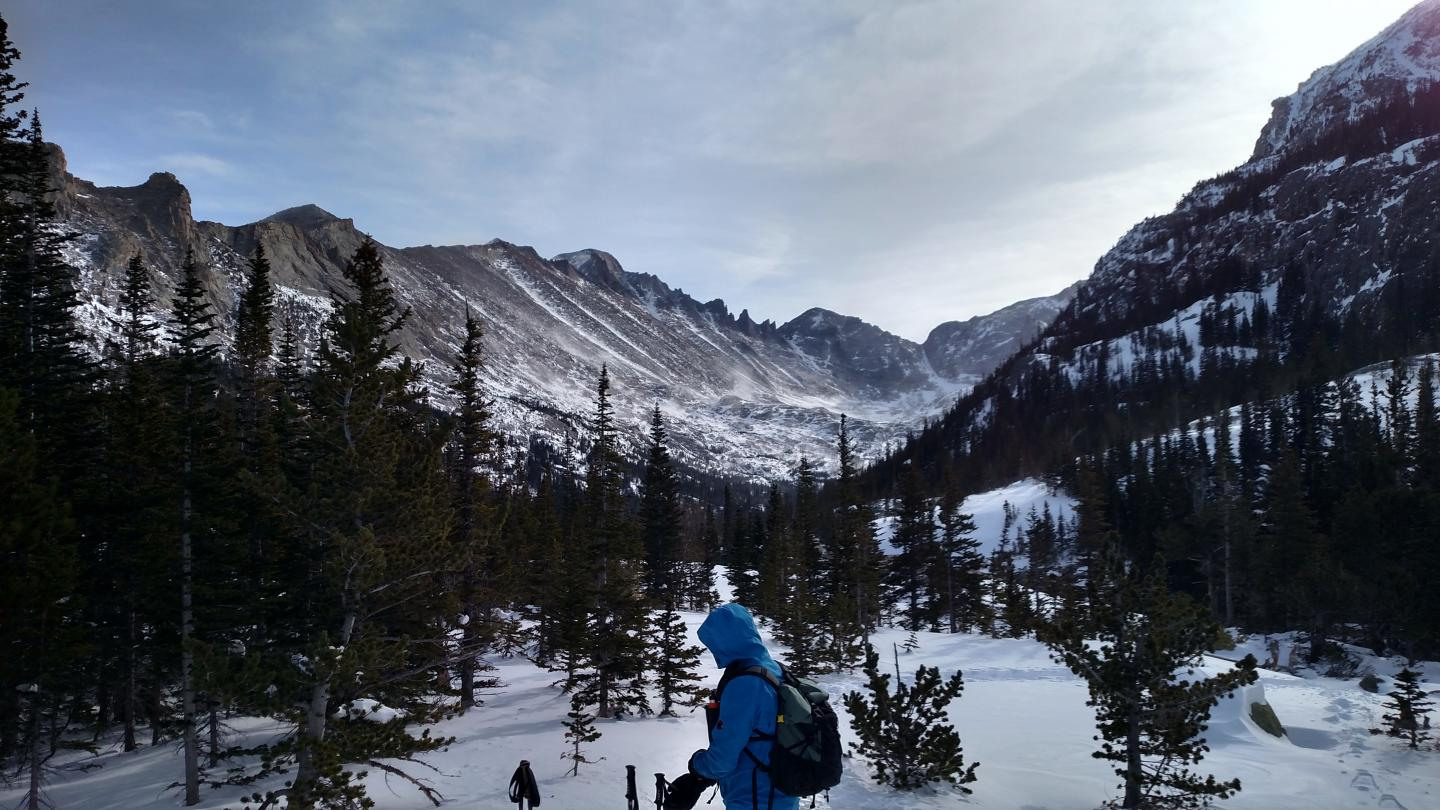 Hiker in the Rocky Mountains