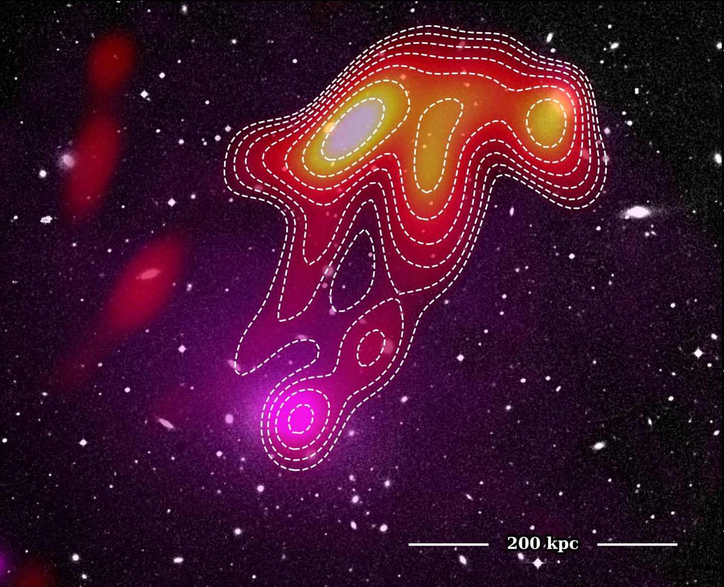 A composite image of the USS Jellyfish in Abell 2877
