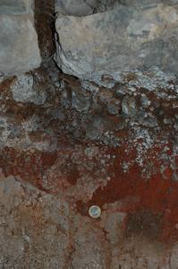 Lava over tephra in Caecilia Metella's tomb