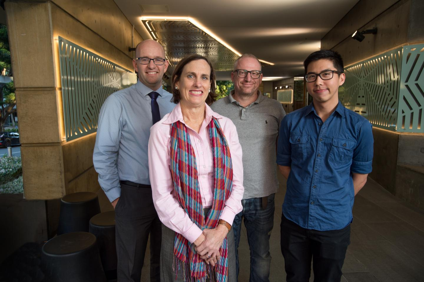 QUT Professors Ben White, Lindy Willmott and Nick Graves with Dr. Xing Lee