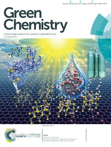 Cover of Green Chemistry, August 7, 2019