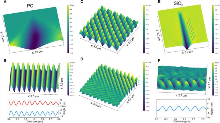 Cavitation-induced nanostructured fracture surface patterns in polymer and silica glasses