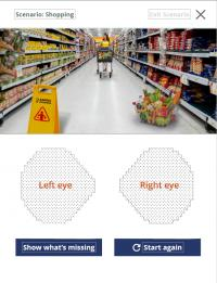 Screenshot from Glaucoma in Perspective app - shopping