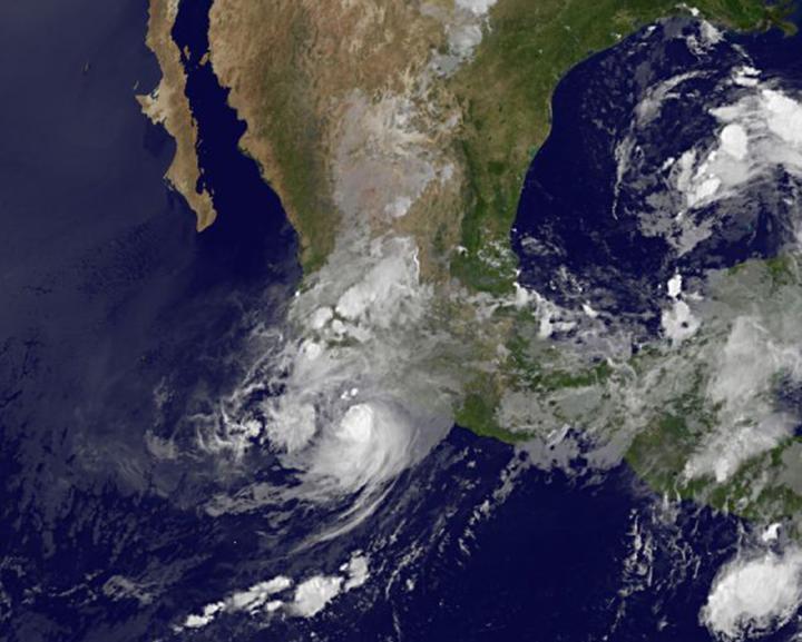 GOES-West Image of Carlos