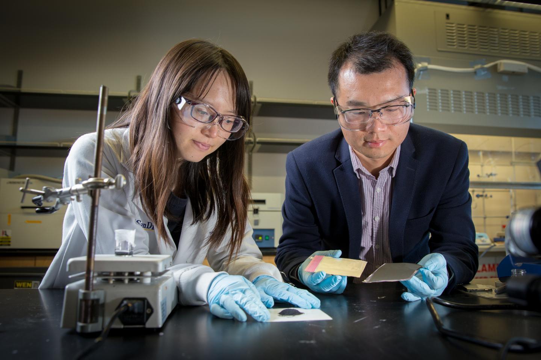 First author Yang Shi and Professor Zheng Chen,  University of California - San Diego