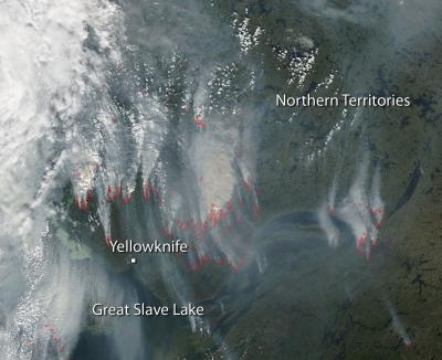 Wildfires Continue Near Yellowknife, Canada