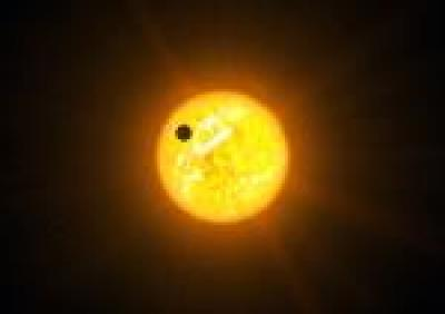 Artist's Conception of an Exoplanet in a Retrograde Orbit