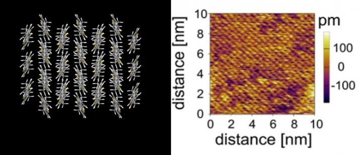 3-D Cmputer Model and Atomic Force Microscopy Image of the New Film Made by University of Tokyo