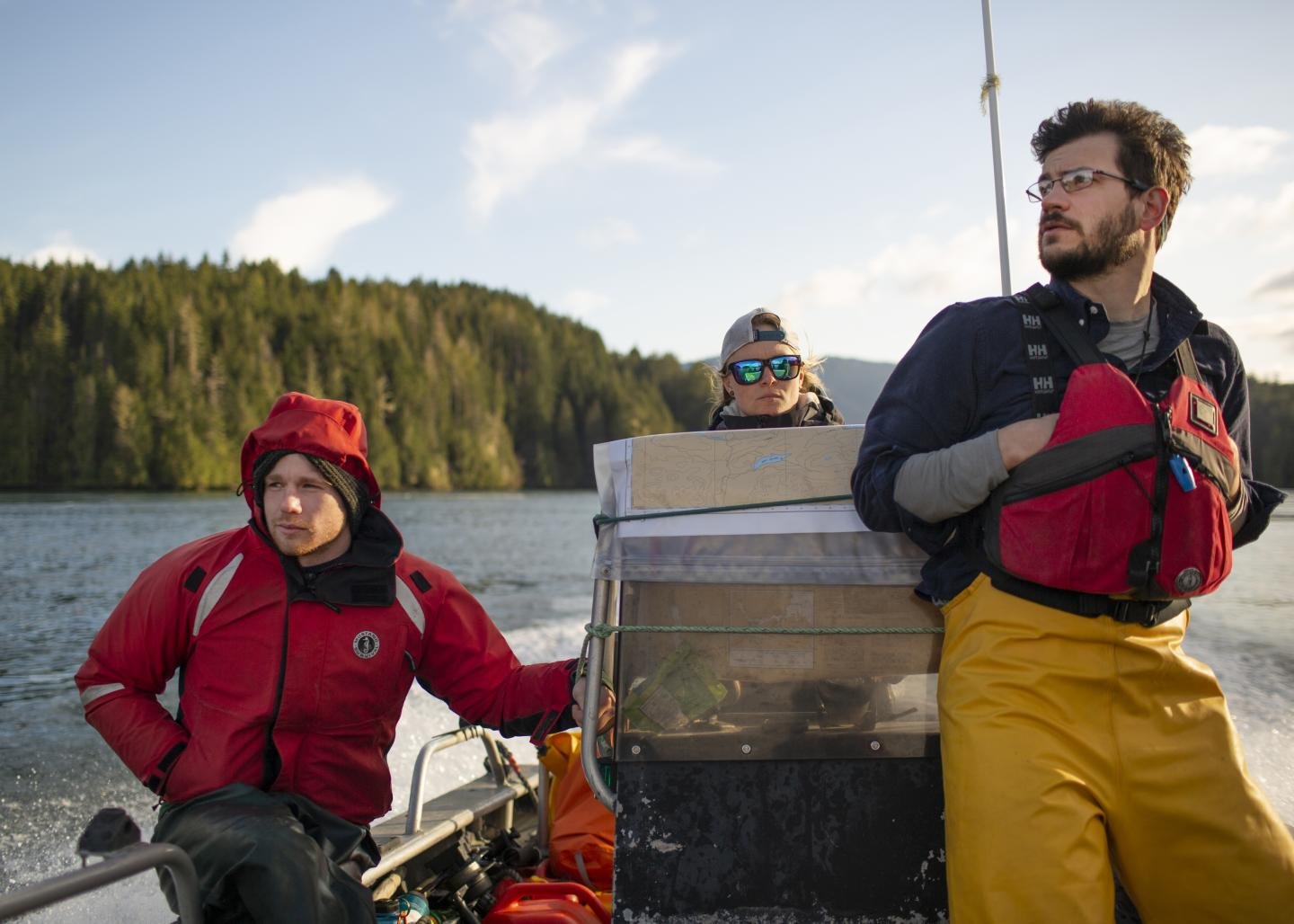 Sampling wild Pacific salmon on the West Coast of Vancouver Island