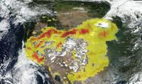 Suomi NPP image of aerosols from California fire smoke