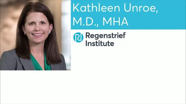 Kathleen Unroe, M.D., MHA of Regenstrief Institute and Indiana University School of Medicine