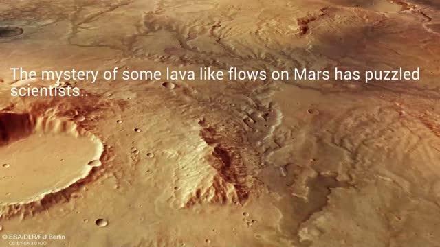 Lave-like mud flows on Mars