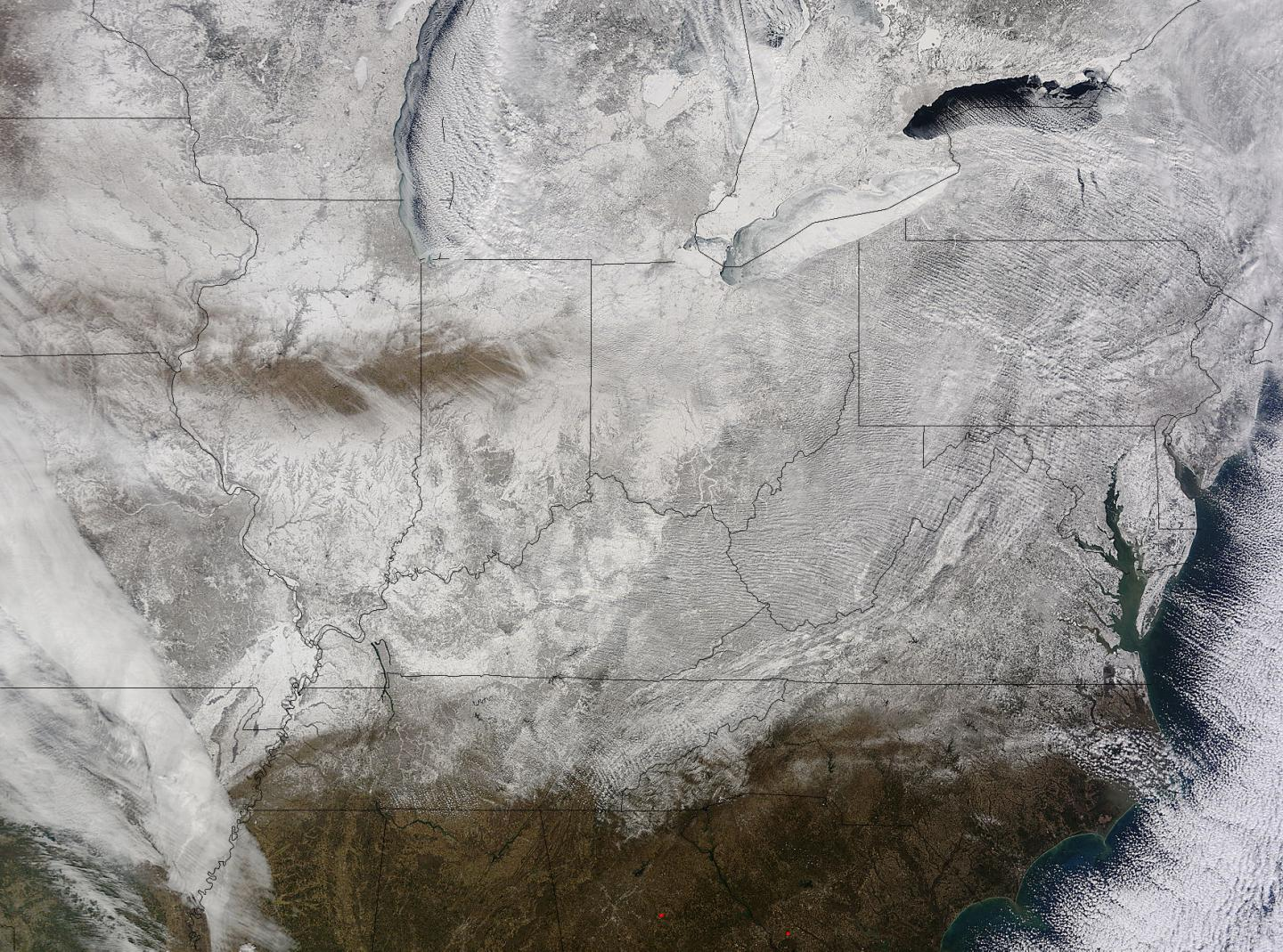 NASA Snaps Picture of Eastern US in a Record-Breaking