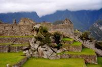 Natural Block in Machu Picchu Mountain