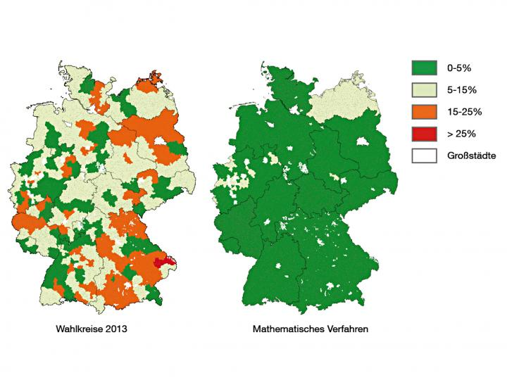 Map of German voting disctricts