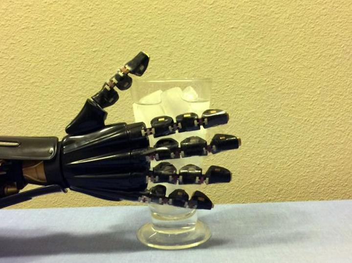Robotic Hand with Stretchy Electronics