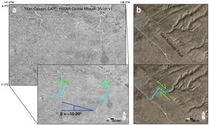Strike-slip faults on Titan and Earth