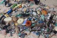 Closeup of Plastic Debris on East Beach, Henderson Island