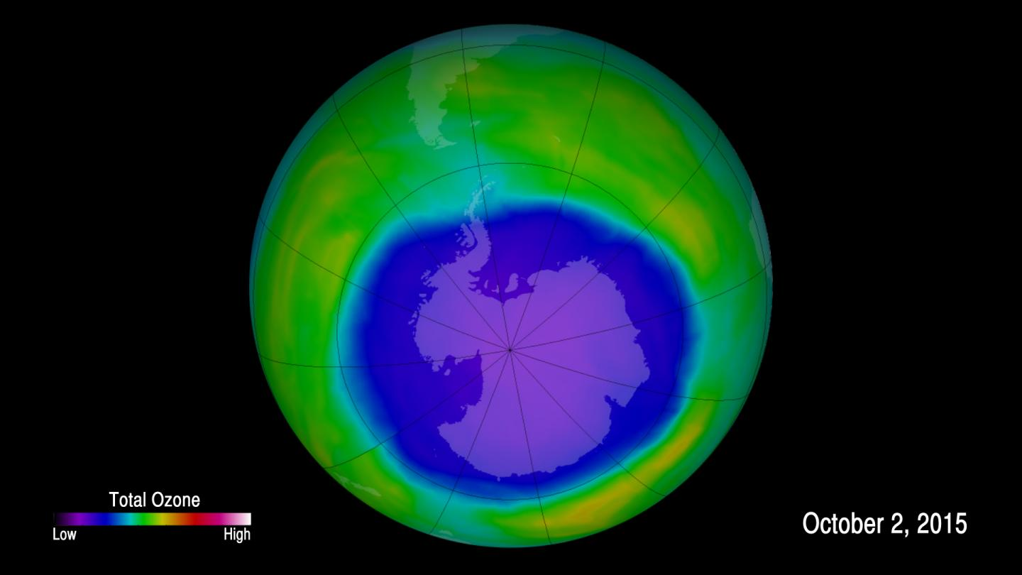 The Ozone Hole at its Largest