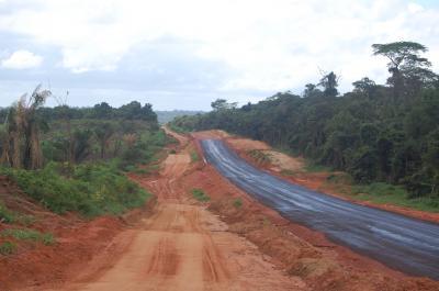 Road through Brazilian Amazon