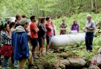 Gene Likens and students at Hubbard Brook Experimental Forest