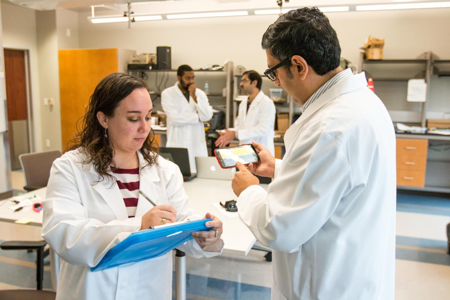 Researchers in Built Environment Lab