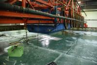 Ice sheet under study at Aalto's Ice Tank