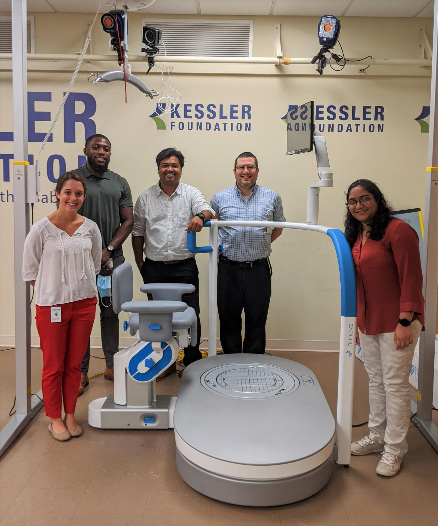 The study team in the Balance Assessment and Training Laboratory at Kessler Foundation
