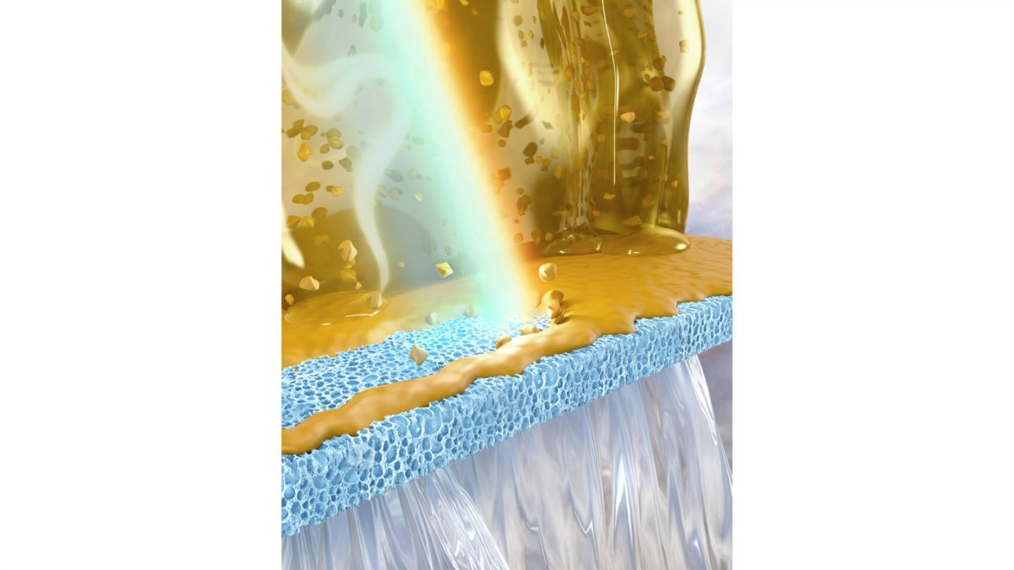 Light-induced self-cleaning of a fouled membrane
