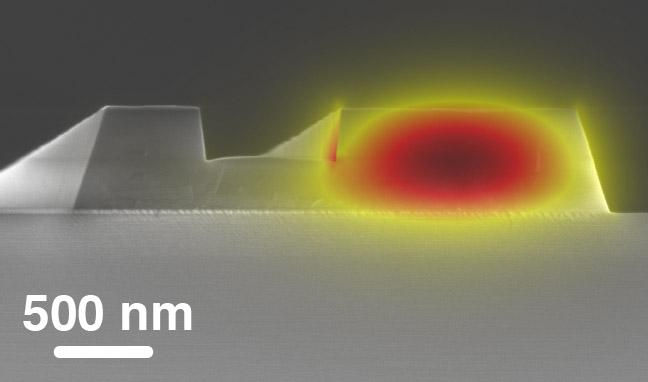 Scanning Electron Micrograph of a Fabricated Photonic Waveguide