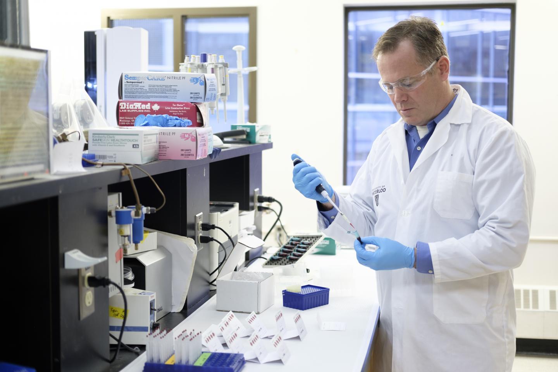 Ken Stark in the Lab