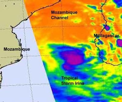 NASA Infrared View of Cyclone Irina Enroute to Mozambique