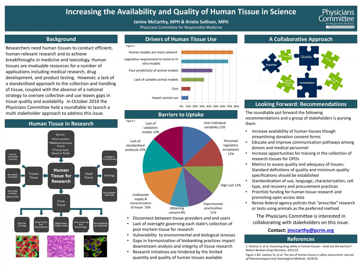 Increasing the Availability and Quality of Human Tissue in Science