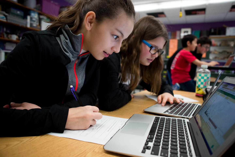 Students from Trenton Elementary School in Trenton, Maine