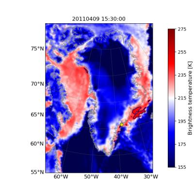 Rise in Temperature and Ice Melt in Southeast Greenland