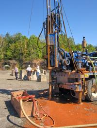 Drilling at the Cairo Fossil Forest Site