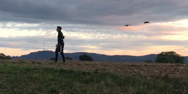 Drone Following Human