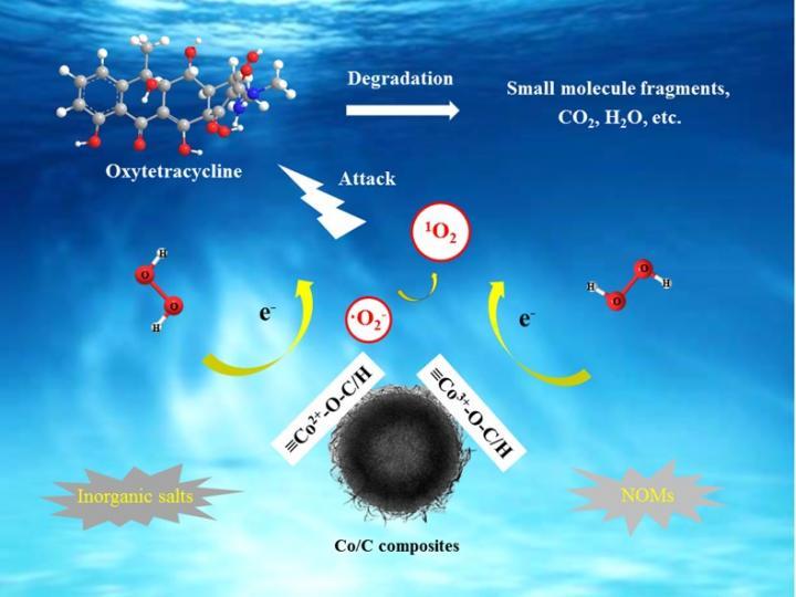 Singlet Oxygen Selectively Degrades Oxytetracycline in Fenton-like Oxidation