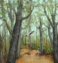 Lemurs with fossils