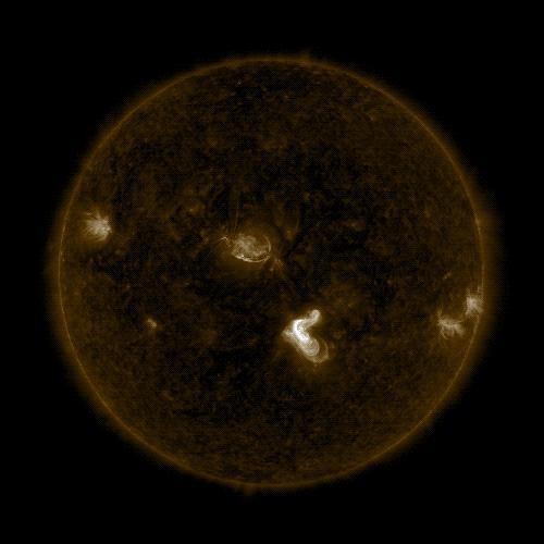 SDO image of solar flare, Sept. 4, 2017
