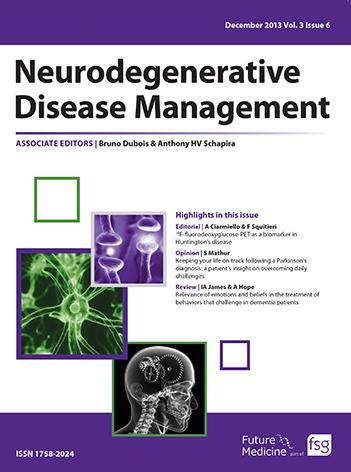 <I>Neurodegenerative Disease Management </I>Journal