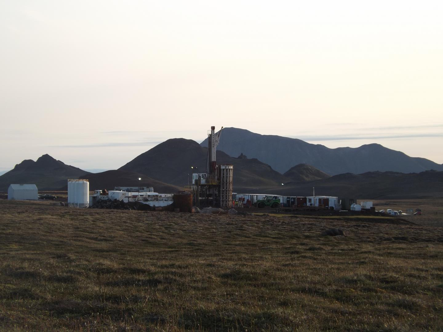 Iceland Deep Drilling Project-1 drill rig