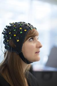 The NIRS/EEG Brain Computer Interface System Shown on a Model