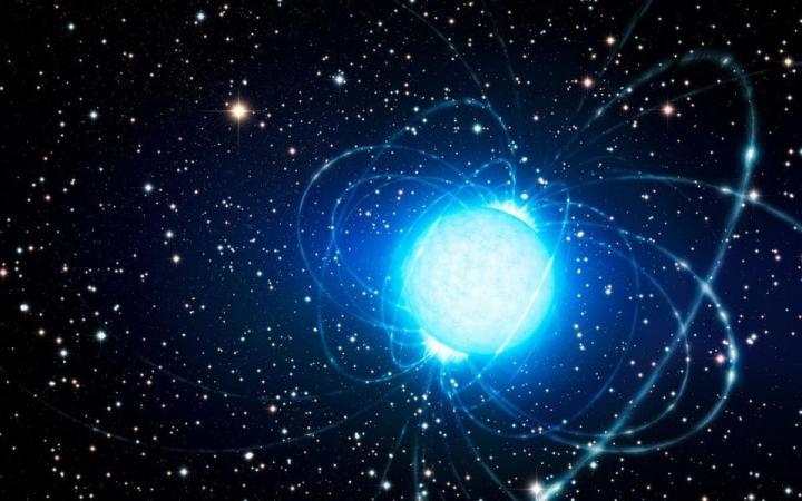 Artist's depiction of a neutron star